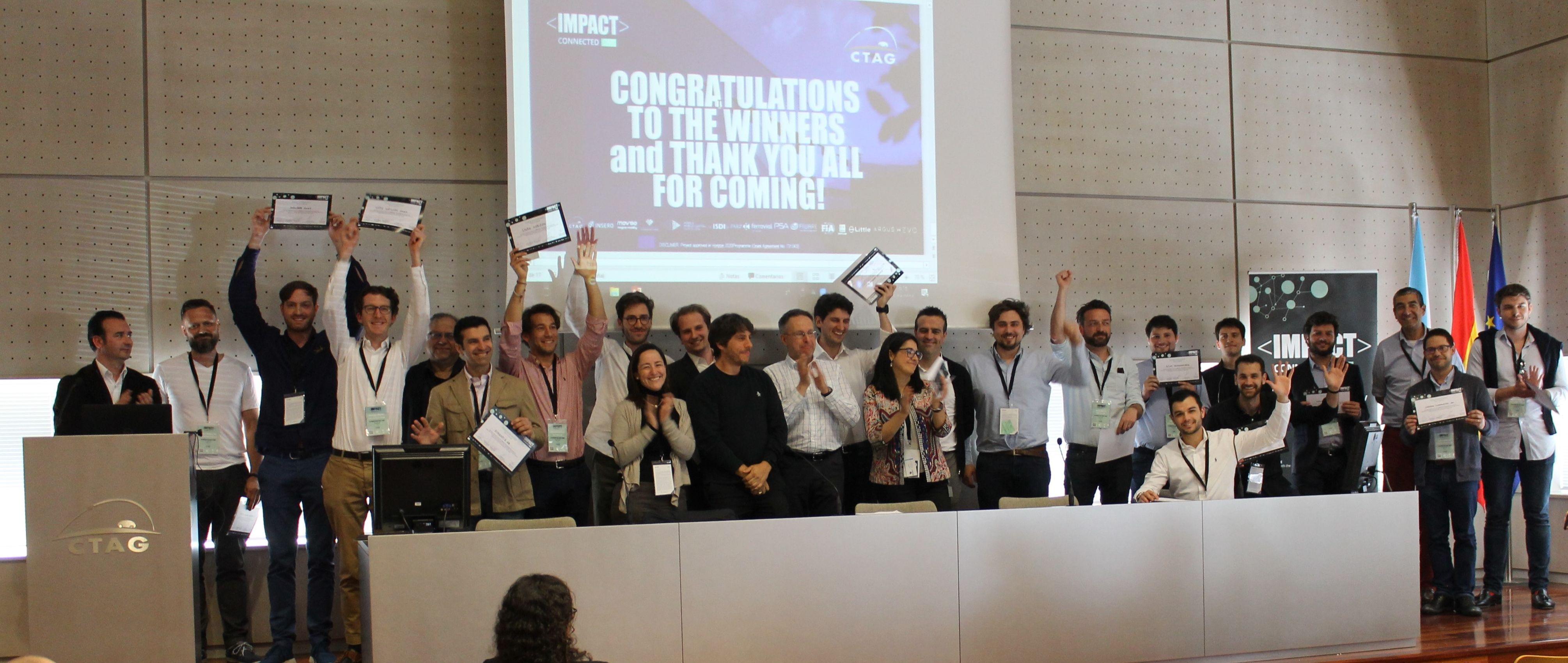 Startups ganadoras del Disruptive Bootcamp celebrado en CTAG