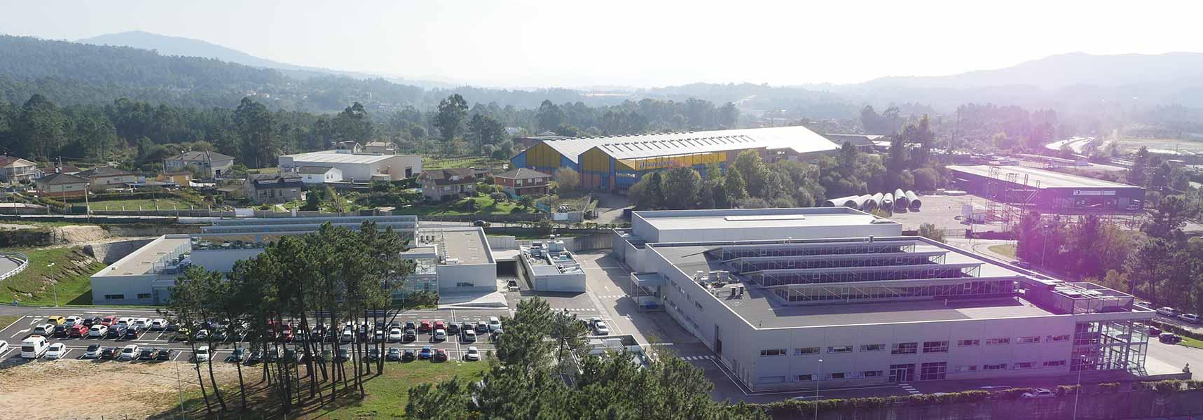 Vista aérea de las instalaciones de CTAG en O Porriño (Pontevedra)