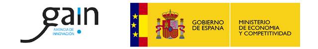 logotipos de GAIN Axencia de Innovación y Gobierno de España, Mibnisterio de Economía y Competitividad