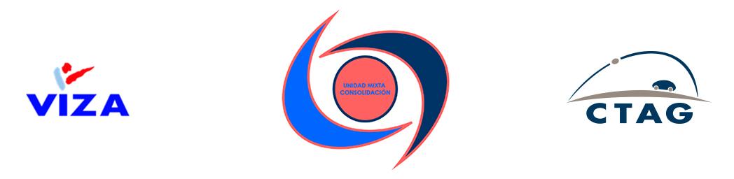 Logotipos de Viza, CTAG y Unidad Mixta de Consolidación