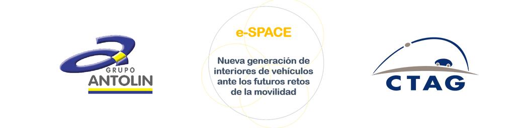 Logotipos de Grupo Antolín y CTAG. e-SPACE: Nueva generacióin de interiores de vehículos ante los futuros retos de movilidad