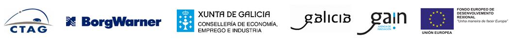 lgotipos: CTAG, BorgWarner, Xunta de Galicia, Galicia, Gaín, Unión Europea