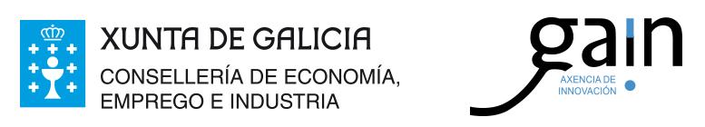 logotipos de Consellería de Economía, Emprego e industria y Agencia Gallega de Innovación