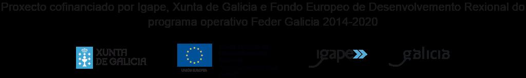 Proxecto cofinanciado por Igape, Xunta de Galicia e Fondo Europeo de Desenvolvemento Rexional do programa operativo Feder Galicia 2014-2020