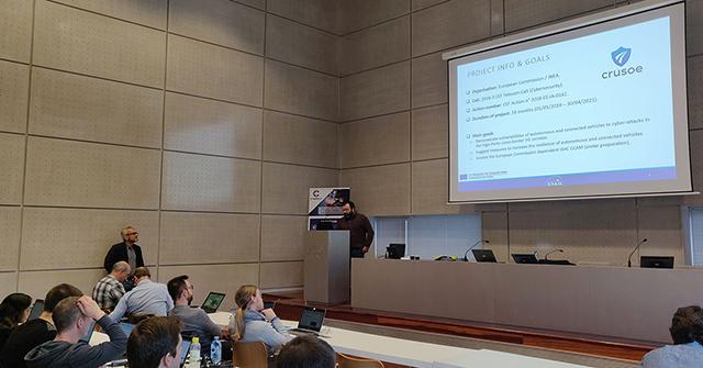 La presentación de resultados, a cargo de Carlos Pérez Garrido (División de Electrónica y Sistemas Inteligentes de Transporte)