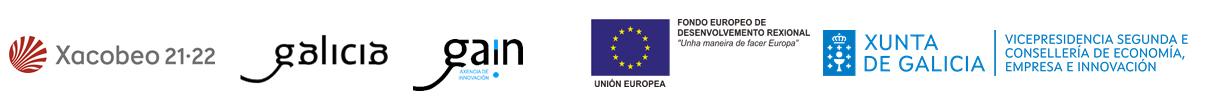 logos: Xacobeo 21-22, Galicia, GAIN, Unión Europea y Xunta de Galicia