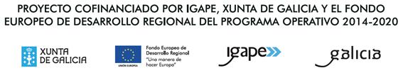 Proyecto cofinanciado por IGAPE, Xunta de Galicia y el Fondo Europeo de Desarrollo Regional del Programa Operativo 2014-2020